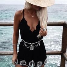 Boho Belly Waist Chain Bohemian Tassel Sequins Charms Bikini Body Chain For Women Flower Belt Body Jewelry Fashion Accessories