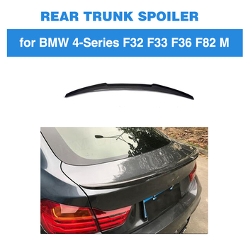 For BMW F36 M Sport 2015 - 2018 4-Series Gran Goupe Carbon Fiber Rear Trunk Spoiler Boot Lip Wing Car Styling