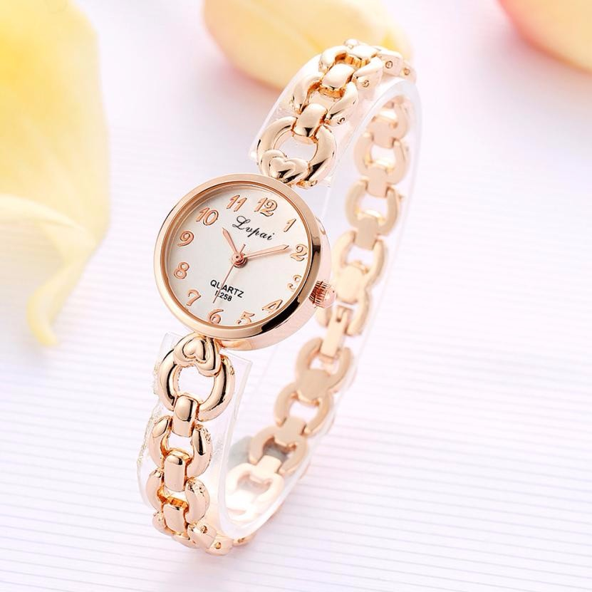 LVPAI 2018 Women Fashion Watches Elegant Lady Stainless Steel Bracelet Wrist Watch Clock Womens Rhinestone Quartz Watch Reloj #N stylish 8 led blue light digit stainless steel bracelet wrist watch black 1 cr2016