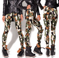 L3180 Fashion Women  woodland pattern camouflage prints elastic bodybuilding sexy Girl Leggings Pants