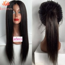 long silky straight glueless silk top full lace wigs with natural hairline human hair lace front wig virgin hair Brazilian wigs