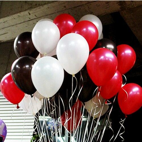 30 18 De Réduction12 Pouces 28g épaissir Latex Ballon Rouge Noir Blanc Couleur Bar Décoration 30 Pcslot Hélium Ballon In Ballons Et Accessoires