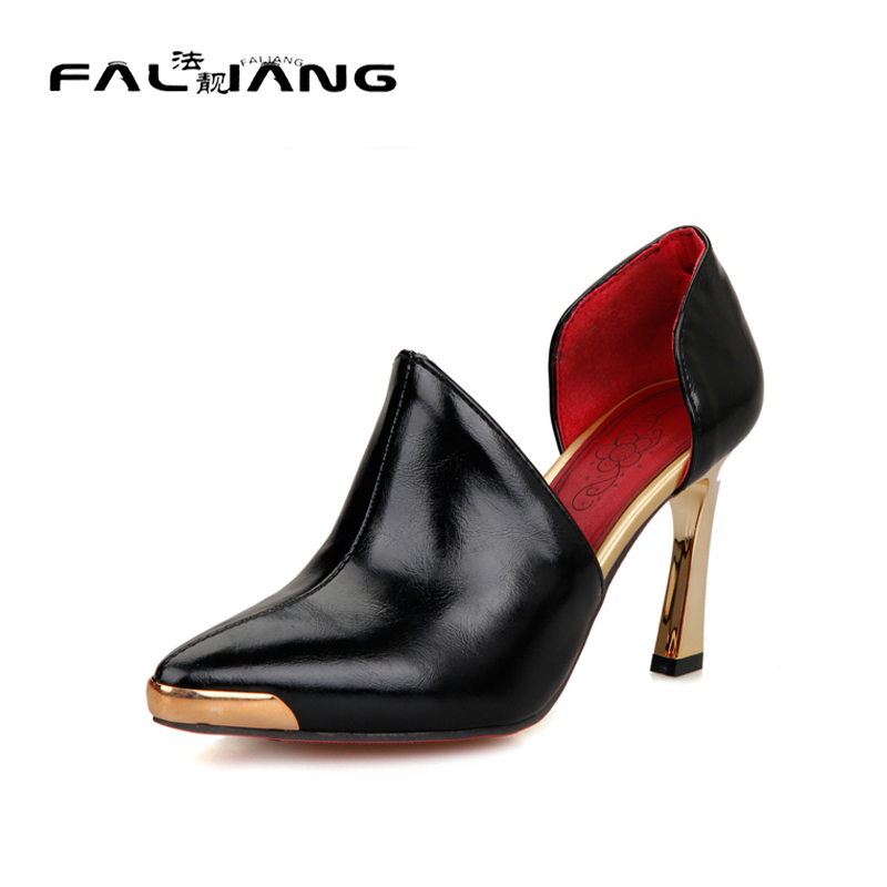 ФОТО Big Size 11 12 Casual Pointed Toe Elegant Thin Heels Women's Shoes Extreme High Heels Pumps Woman For Women