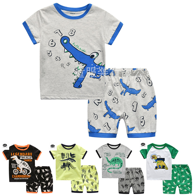 Dinosaur T Shirt Baby Children Pajamas for Boys Pyjamas Kids Boy Clothing Set Shorts Childrens Sleepers Kid
