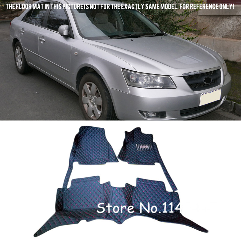 For Hyundai Sonata 2004 2005 2006 2007 2008 2009 Interior Waterproof Auto Custom Floor Mats Front and Rear Full Set Cover