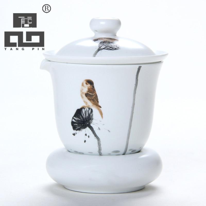 TANGPIN coffee and tea sets handpainted ceramic teapot kettle gaiwan tea cup chinese kung fu tea set drinkware