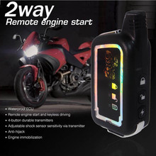 2 Two Way Alarm Universal 12V Motorcycle Scooter Bike Security Alarm System Immobiliser Remote Control Alarm Moto Engine Start