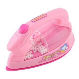 Image 2 - 1 adet Mini elektrikli demir plastik güvenlik pembe oyuncaklar Light up simülasyon çocuk çocuk bebek kız oyna Pretend ev aletleri oyuncak