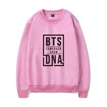 BTS Love Yourself Capless Women/men Hoodies Sweatshirts Bangtan boys outwear Hip-Hop Hoodies Album DNA Song Kpop Clothes xxxxl