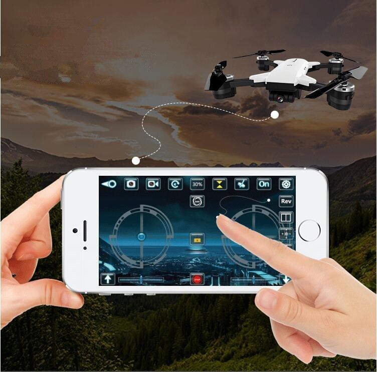NOUVEAU WIFI en temps réel RC Drone YH-19HW Selfie Télécommande Pliable Quadcopter 2.4g 6-Axe attitude 720 p large angle Caméra