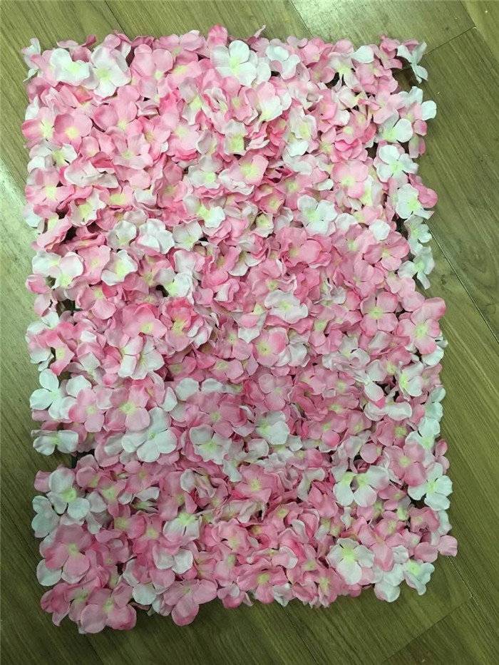 10pcslot artificial silk hydrangea flower wall hot 10pcslot artificial silk hydrangea flower wall hot pink flower wall decoration wedding decoration 4060cm mightylinksfo Image collections