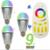 9 W Lâmpada LED RGBW Milight Inteligente E27 + 2.4G RF controle remoto 16 milhões de cores regulável mi. light levou conjunto lâmpada AC85-265V