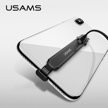 USAMS 90 Grado de Cable USB para iPhone 5 y 5s SE X 6 6s 7 7 8 rápida Cable de carga para iPad USB Cable de cargador de Cable de datos para iPhone X