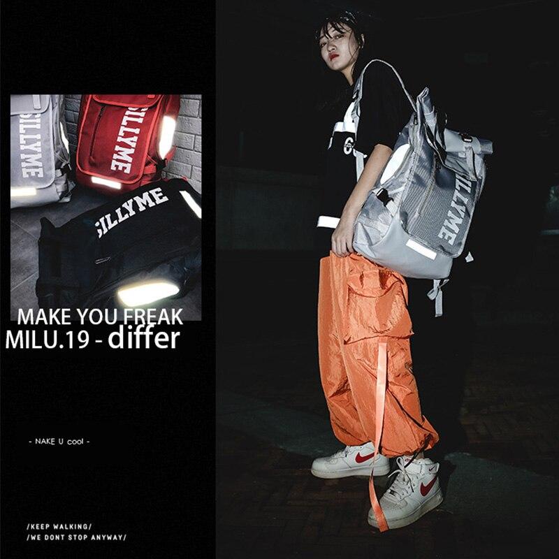 Hip hop Style Unisex Backpack Street Fashion Harajuku Letter Print Travel Bag Sports Backpack 3