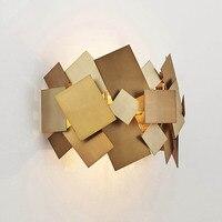 Nordic Современная роскошь золота Нержавеющаясталь светодиодный настенный светильник Спальня коридор ночники бра светильники Home Decor