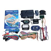Russian Version Starlionr B9 Remote Engine Start Two Way Auto Car Alarm System With LCD Fob