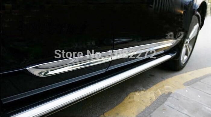 ABS Chrome Side Door Body Molding Cover Trim For Toyota Highlander 2008 2009 2010