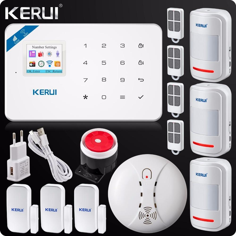 Original Kerui Wifi GSM Alarm W18 App Control Home Burglar LCD Touch Screen Alarm Home Security
