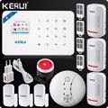 Оригинальная домашняя охранная сигнализация Kerui  Wi-Fi  GSM  W18  управление через приложение  ЖК-дисплей  сенсорный экран  домашняя система охран...