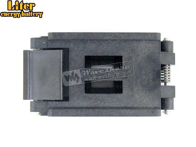 QFP44 TQFP44 LQFP44 PQFP44 FPQ-44-0.8-16A Enplas QFP IC Test Burn-In Socket Adapter