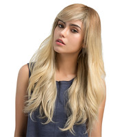 Women's wig 1 PC Real Remy Human Hair Topper Toupee Clip Hairpiece Lace Top Wig0928