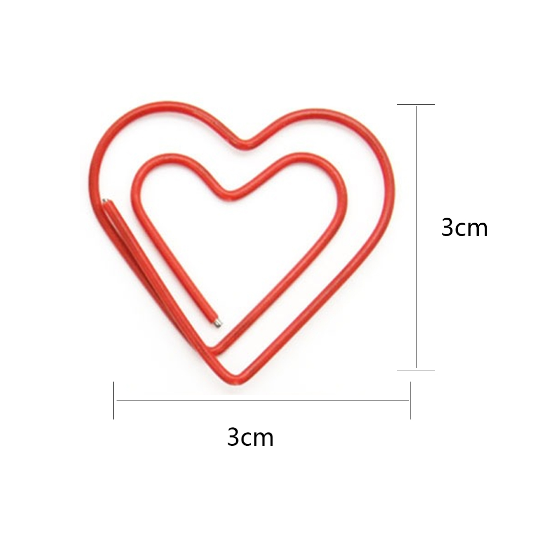FangNymph 10Pcs/pack Beautiful Love Heart Paper Clip Metal Material Bookmarks For Book Stationery School Office Supplies
