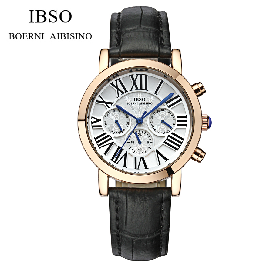 Watches Men Luxury original brand IBSO Sport Watches men Fashion wristwatch Chronograph waterproof Male leather Quartz watch фигурки ethnic chic фигурка козерог на ониксе