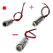 650nm 5mw ponto vermelho/linha/módulo laser cruzado, cabeça de vidro lente focusable classe industrial