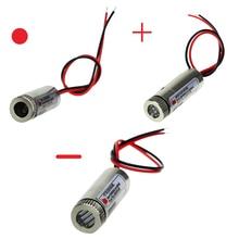 Cabezal de módulo láser de punto rojo/línea/Cruz, lente de cristal, clase Industrial enfocable, 650nm, 5mW
