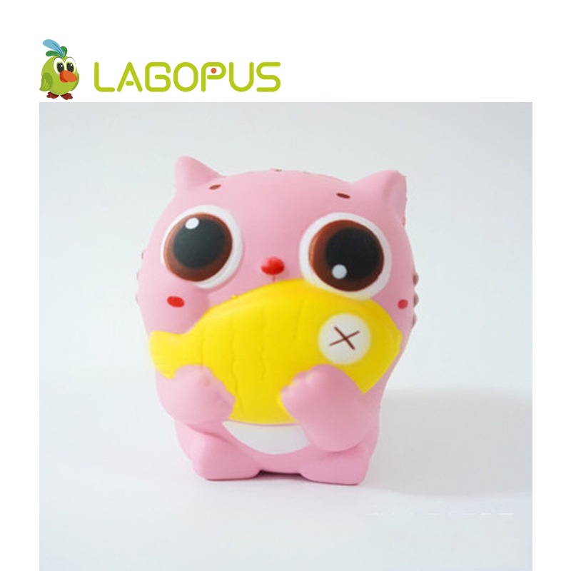 lagopus Squishy Cat Animal Toys for Children 10cm Squeeze Slow Rising Anti stress Squishys Toys Cartoon Lovely Cat Fish