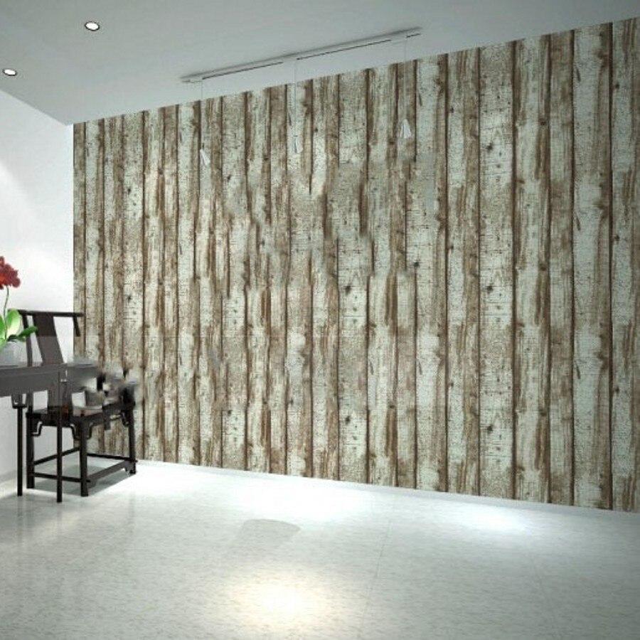 beibehang papel de parede d mural sala de comedor de madera panel de vinilo saln pared