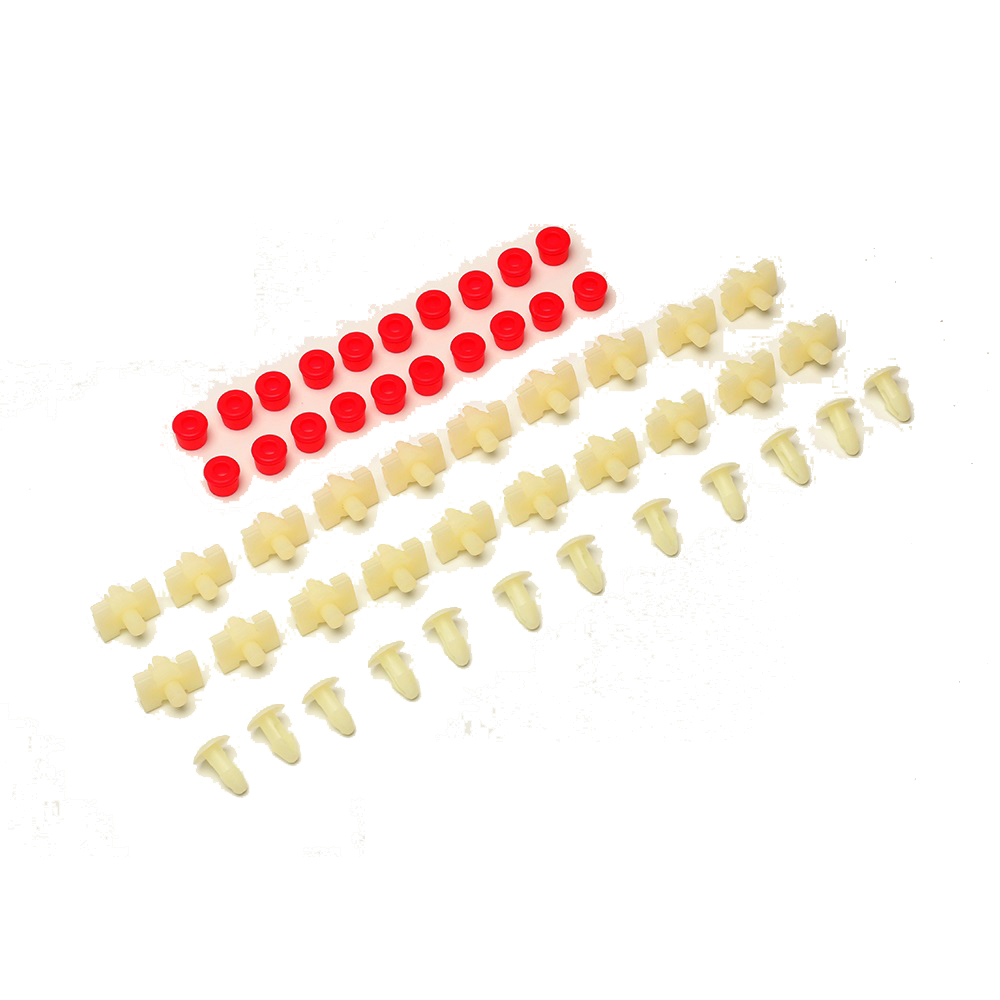 Auto Fastener & Clip Automobiles & Motorcycles 52 Pcs/pack Red With White Door Fastener & Clip Gasket Strip Trim Clips Clamps Plugs Grommets Fits For Mercedes Benz W123 Complete Range Of Articles