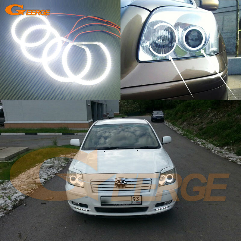 For Toyota Avensis T25 2003 2004 2005 headlight Excellent Ultra bright illumination smd led Angel Eyes Halo Ring kit for alfa romeo 147 2000 2001 2002 2003 2004 halogen headlight excellent ultra bright illumination ccfl angel eyes kit halo ring