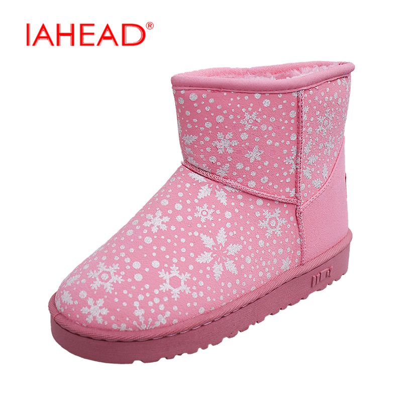 Women Shoes New Brand Snow Boots Warm Ankle Boots Slip On Rubber Shoes chuteira botas mujer bota feminina UPA120