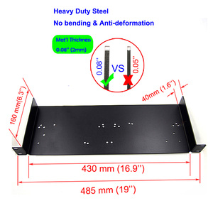 Image 4 - 1U Rack Mount,Shelf Tray Case, Patch Panel, Antenna Cable Extension for SLX4 288 Sennheise ew100G2 G3 ew135 G2 G3 Wireless Mic