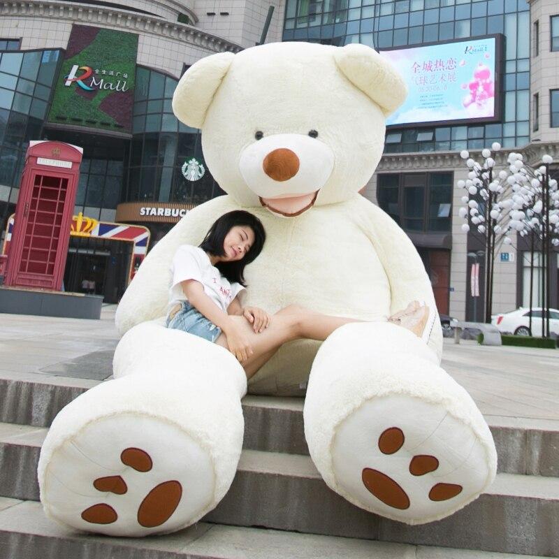 테디 베어 거대한 미국의 거대한 곰 피부 테디 베어 코트 좋은 품질의 공장 가격 여자를위한 부드러운 장난감