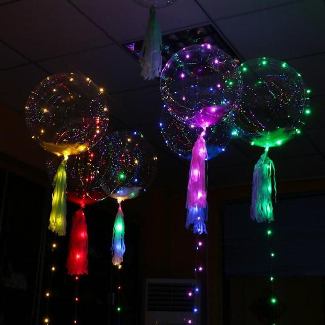 1 pieza 3M globos accesorios festivales de boda Led luz centelleante poste claro globo luz Led intermitente fiesta esferas DIY decoración v2