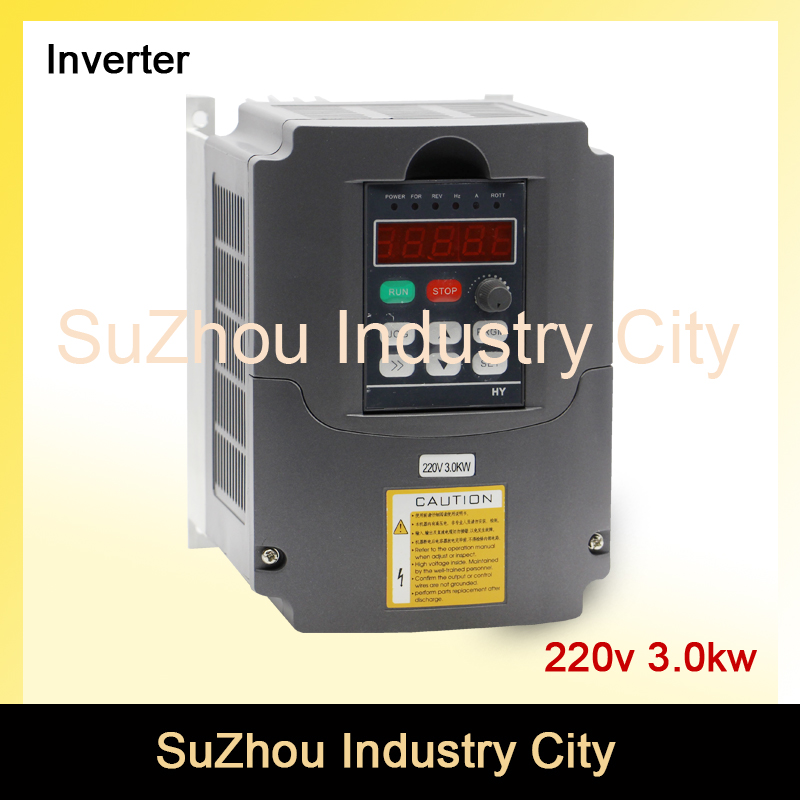 220v 3.0kw VFD Variable Frequency Driver Inverter 1HP or 3HP Input 3HP Output CNC Spindle Motor Driver Spindle Speed control! 220v 5 5kw vfd variable frequency drive vfd inverter 3hp input 3hp output cnc spindle motor driver spindle motor speed control