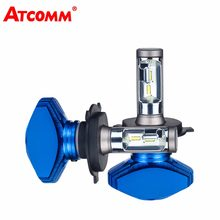 ATcomm H7 H1 Mini 12V LED Car Headlight Bulb H3 H11 H8 H9 9005/HB3 9006/HB4 Hir2 CSP 8000Lm 6500K 80W LED H4 Auto LED Voiture(China)