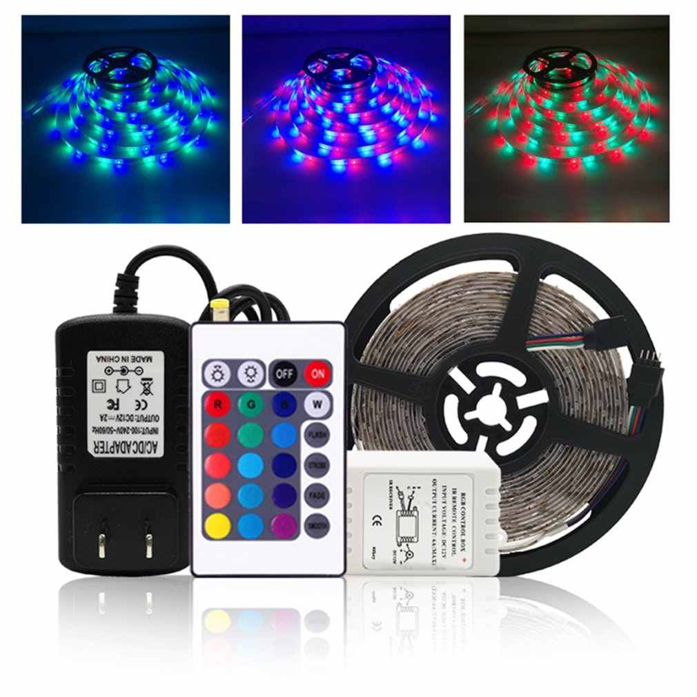 3528 USB LED Lampu Strip 5 V Warna Mengubah String Tape Pita Tahan Air Putih/Warm 5 M RGB RF atau IR Controller DIY