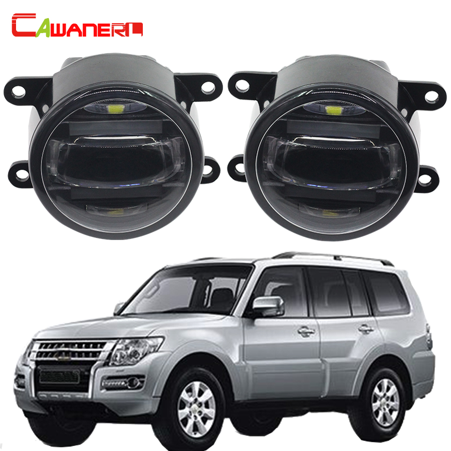 Cawanerl 2 Pieces Car LED Fog Light Daytime Running Lamp DRL High Power For Mitsubishi Pajero 4 / IV V8_W V9_W 2007-2015