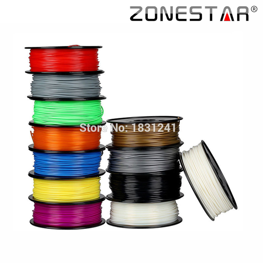 ZONESTAR Full Colors 3D printer Filament PLA Filament 1.75mm Consumables Material