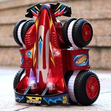 2018 new 2.4G remote control car stunt drift racing toy tumbling car charging children's toy Transformation rc car