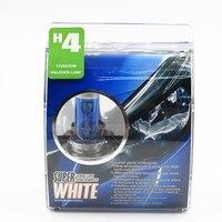 H4 55W 12V Halogen Bulb Super Xenon White Fog Lights High Power Car Headlight Lamp Car Light Source parking auto Free shipping