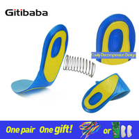 Silicon Gel Insoles Foot Care For Plantar Fasciitis Heel Spur Running Sport Insoles Shock Absorption Pads