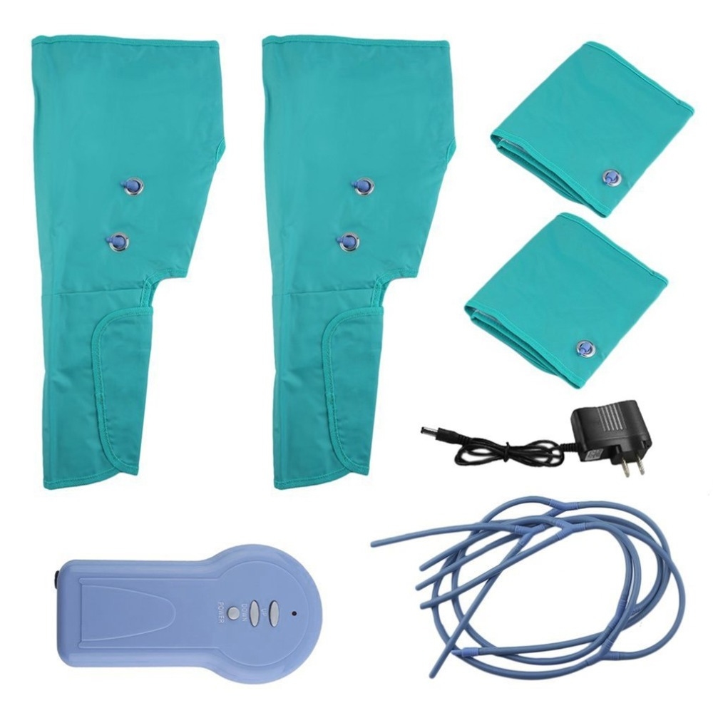 Air Compression Leg Wraps Electric Foot Calf Ankles Circulation Therapy Massage Health Care Portable Leg Massager цены