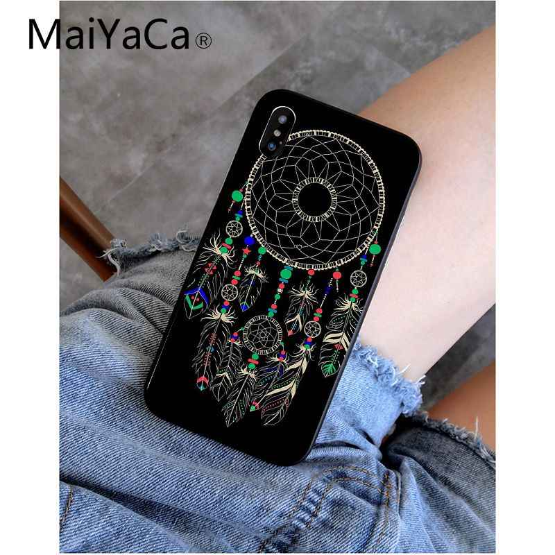 MaiYaCa Dream catcher patrón suave accesorios para teléfono móvil funda para iPhone 8, 7, 6, 6 S Plus, 5 5S SE XR X XS X MAX Coque Shell