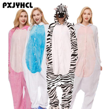 Adult Anime Kigurumi Onesie Zebra Unicorn Costume For Women Animal Tiger Party Onepieces Sleepwear Disguise Home Cloths Girl Boy