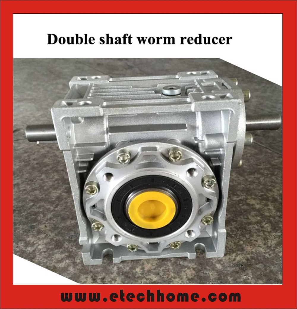 Worm Reducer 050 Double Extension Shaft 14mm Ratio 7.5:1 - 100 :1 Worm Gearbox Speed Reducer поло мужское oodji lab цвет белый синий 5l412293m 47898n 1075g размер xl 56