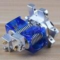 Acessórios da impressora 3D bocal da cabeça de impressão V6 dupla extrusão kit dual hotend E3D M4 effector liga de alumínio do metal olho de peixe